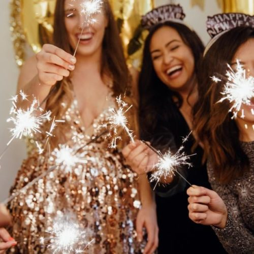 New Year's Eve party ideas sparklers