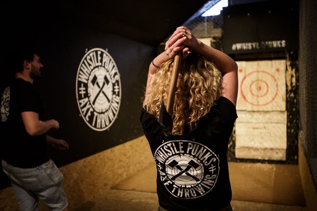 Whistlepunks urban axe throwing London