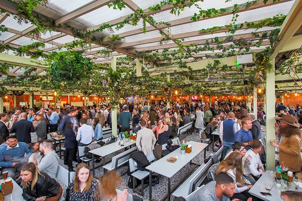 Pergola Paddington street food tables London