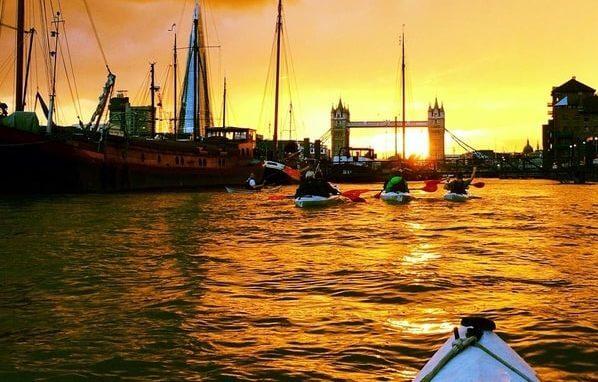 Moo Canoes kayak trip Thames Tower Bridge London