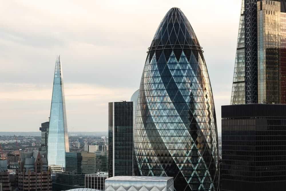 gherkin princes spotlight London skyscape