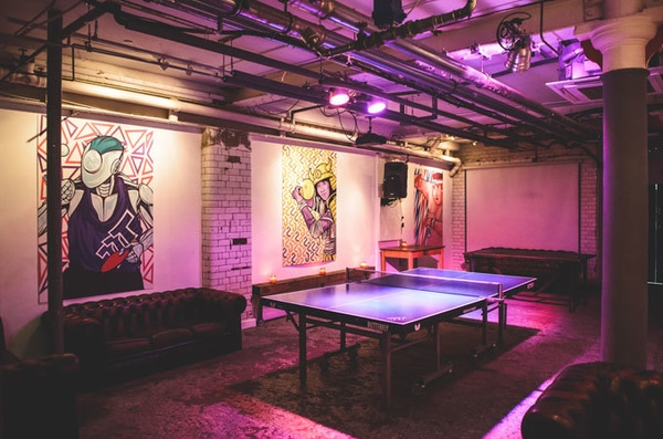 Manchester Northern Quarter venue hire ping pong