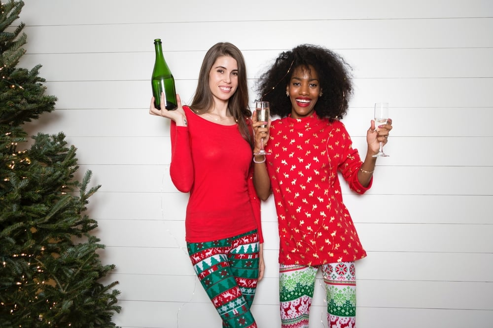 small Christmas party ideas girls champagne