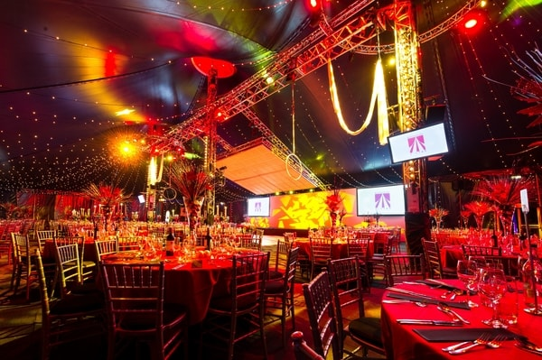 Cirque Lumiere The Bloomsbury Big Top Christmas party