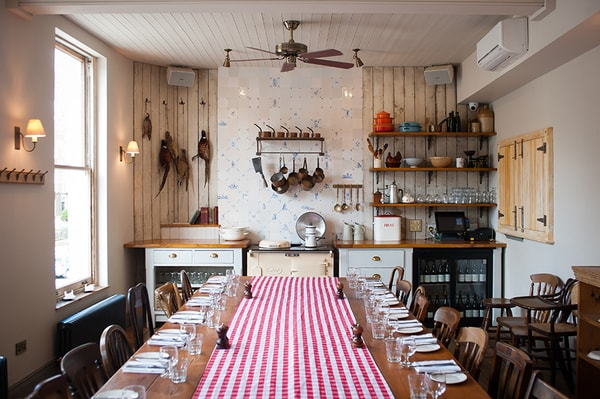 The Pig and Butcher dining room
