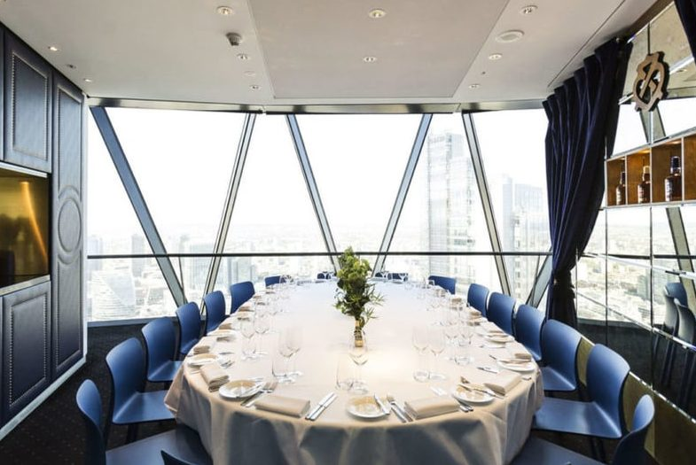 private dining rooms London Gherkin