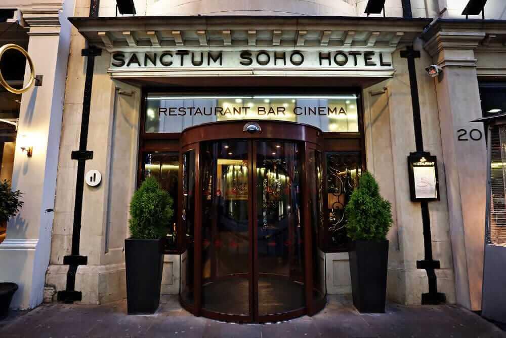 Sanctum Soho Hotel entrance