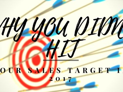 Why You Didn't Hit Your Sales Target In 2017