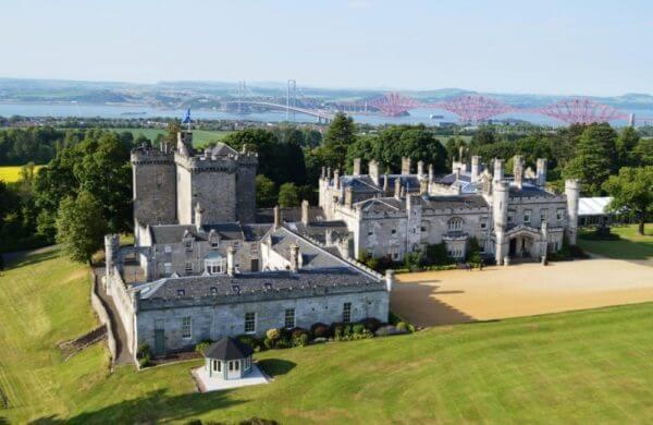 Dundas Castle aerial shot iconic venue