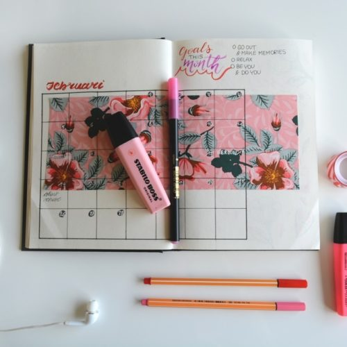 PA events in 2018 calendar journal pink