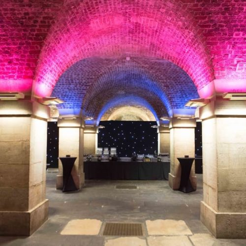 unusual Christmas venue crypt