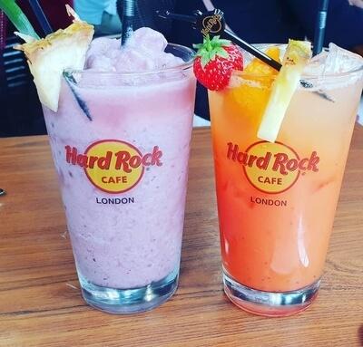 tropical cocktails Hard Rock Cafe London
