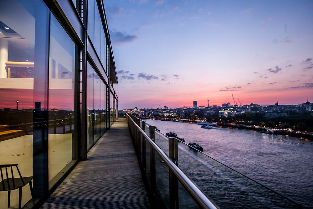 large event at short notice Sea Containers Mondrian sunset