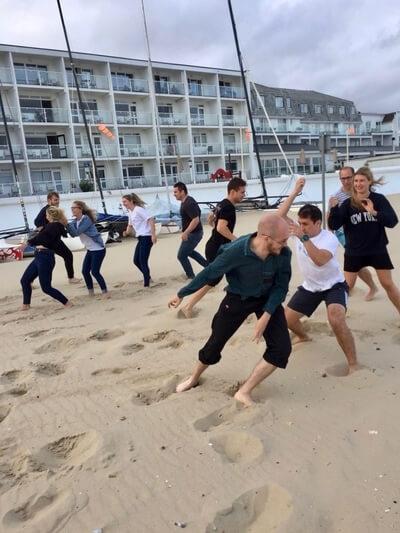 team activity egg race