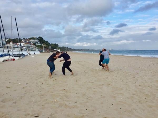 team building activity beach games