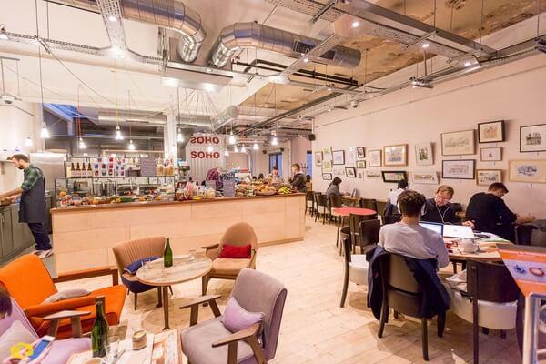 Timberyard Soho cafe space