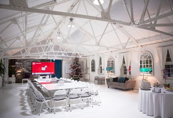 Lumiere London white loft training venue