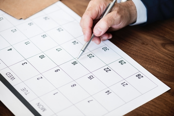 how to plan an event schedule calendar