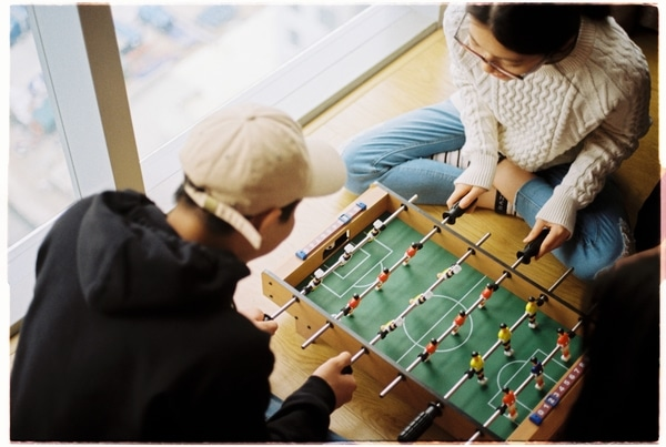 team bonding mini table football