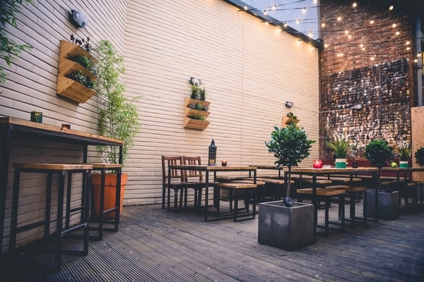 Jerusalem Bar and Kitchen outside terrace
